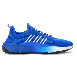 Adidas Men's Haiwee Glow Blue/Cloud White/Core Black Sneakers EF4445 NEW