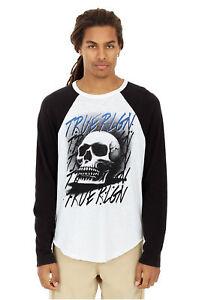 True-Religion-Herren-Airbrush-Skull-Raglan-Langarm-Tee-T-Shirt