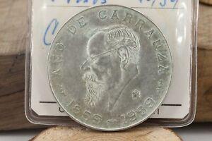 5-cinco-Pesos-1959-Mexico-Caranza-1859-1959-Silber-Muenze-720-015