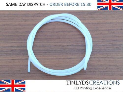 PTFE Tube ID 2mm OD 3mm for MK7 MK8 Extruders 1.75 Filament 3D Printer Part