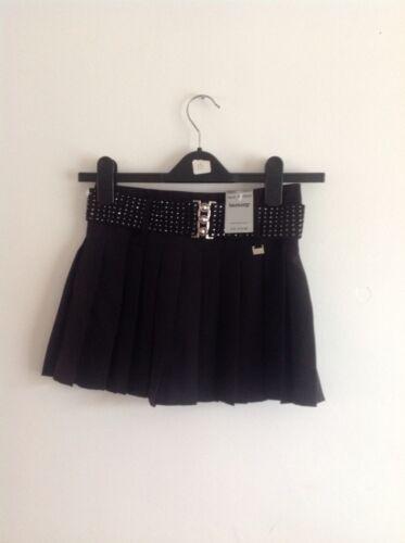 Girls Black Pleated Skirt Aged 11years Rrp £12