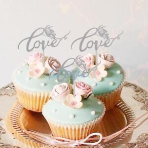 Glitter love cake toppers wedding cupcake picks hen nights image is loading glitter love cake toppers wedding cupcake picks hen junglespirit Choice Image