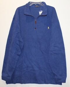 Details about Polo Ralph Lauren Big and Tall Mens Beach Royal Blue 12 Zip Sweater NWT 3XB