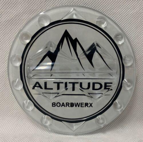 "ALTITUDE BOARDWERX 4/"" CLEAR ROUND SNOWBOARD STOMP PAD *INCLUDES FREE STICKER"