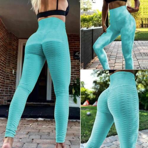 Women Scrunch Yoga Pants Anti Cellulite Butt Lift Leggings Booty Gym Trousers UK