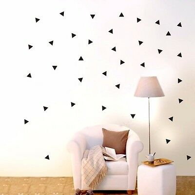 162 pcs Triangle Removable Wall Stickers Vinyl Wall Decal Kids Art Mural Decor
