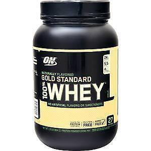 Details About Optimum Nutrition 100 Whey Protein Gold Standard Natural Vanilla 19 Lbs