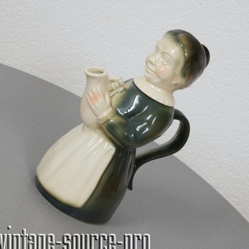 Noble Erphila porcelaine personnages cafetière ancienne paysanne type dèco 40er ans usa