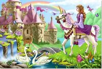 Melissa And Doug Fairy Tale Castle Floor Puzzle , New, Free Shipping