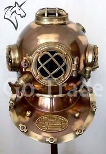 Us Navy Boston Dive Helmet Scuba Mark V Diving Divers Helmet Christmas Gift Other Maritime Antiques Maritime