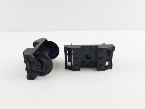 LEGO ® axes ferroviaires roues 2 Pièce Noir Essieu Roue 2878c01