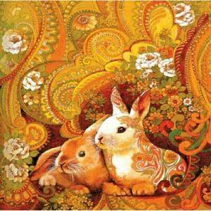 Color Rabbit Diamond Painting Embroidery Portrait House Wall Decorations Display