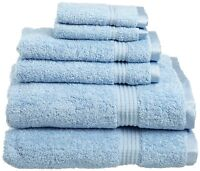 Superior Egyptian Cotton 6-piece Towel Set, Light Blue , New, Free Shipping on sale