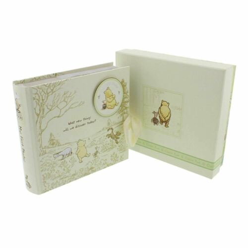 Disney Winnie the Pooh Classic My First Photo Album Baby Christening Gift Boxed