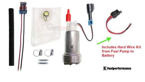 instalar Kit /& Kit De Alambre Duro Genuino Walbro 450LPH E85 bomba de combustible de rendimiento