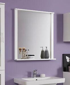 Badspiegel Wandspiegel weiß mit Ablage Bad Badezimmer Möbel Spiegel ...