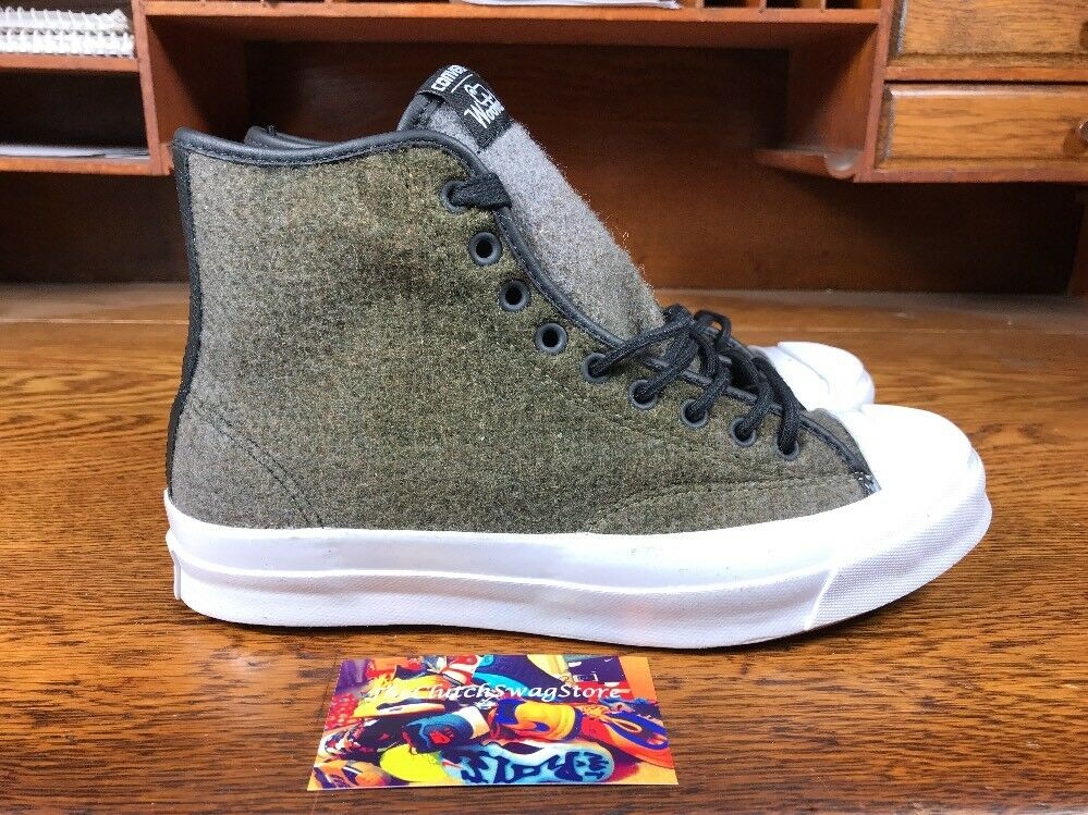 Converse Jack Purcell Woolrich Street Boots Mens Sizes 153880C Wool White Black