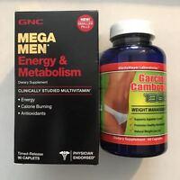 Gnc Mega Men Energy & Metabolism 90 Caps +and+ Garcinia Cambogia Weight Loss