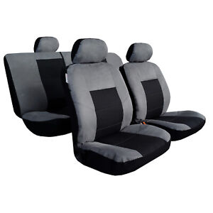 Mitsubishi-Triton-Seat-Covers-Dual-Cab-MQ-ML-MN-Esteem-Suede-Front-amp-Rear-Airbag
