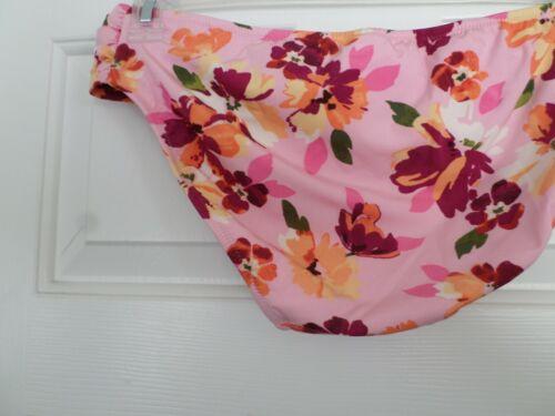 Lands' End Size 10 Sea Pink Floral Bikini Bottom NWT