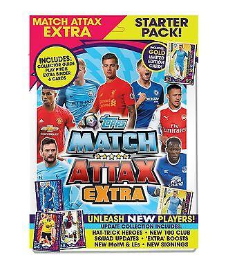 2017-18 TOPPS MATCH ATTAX EXTRA Premier League Starter Pack álbum le 6 Tarjetas
