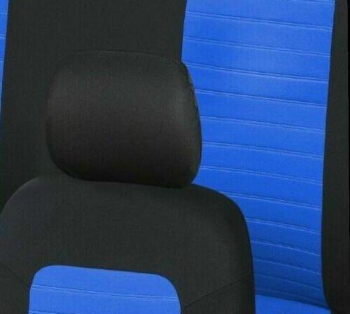 Auto-Sitzschoner Schonbezüge Sitzbezüge blau Set aus hochwertigem Polyester