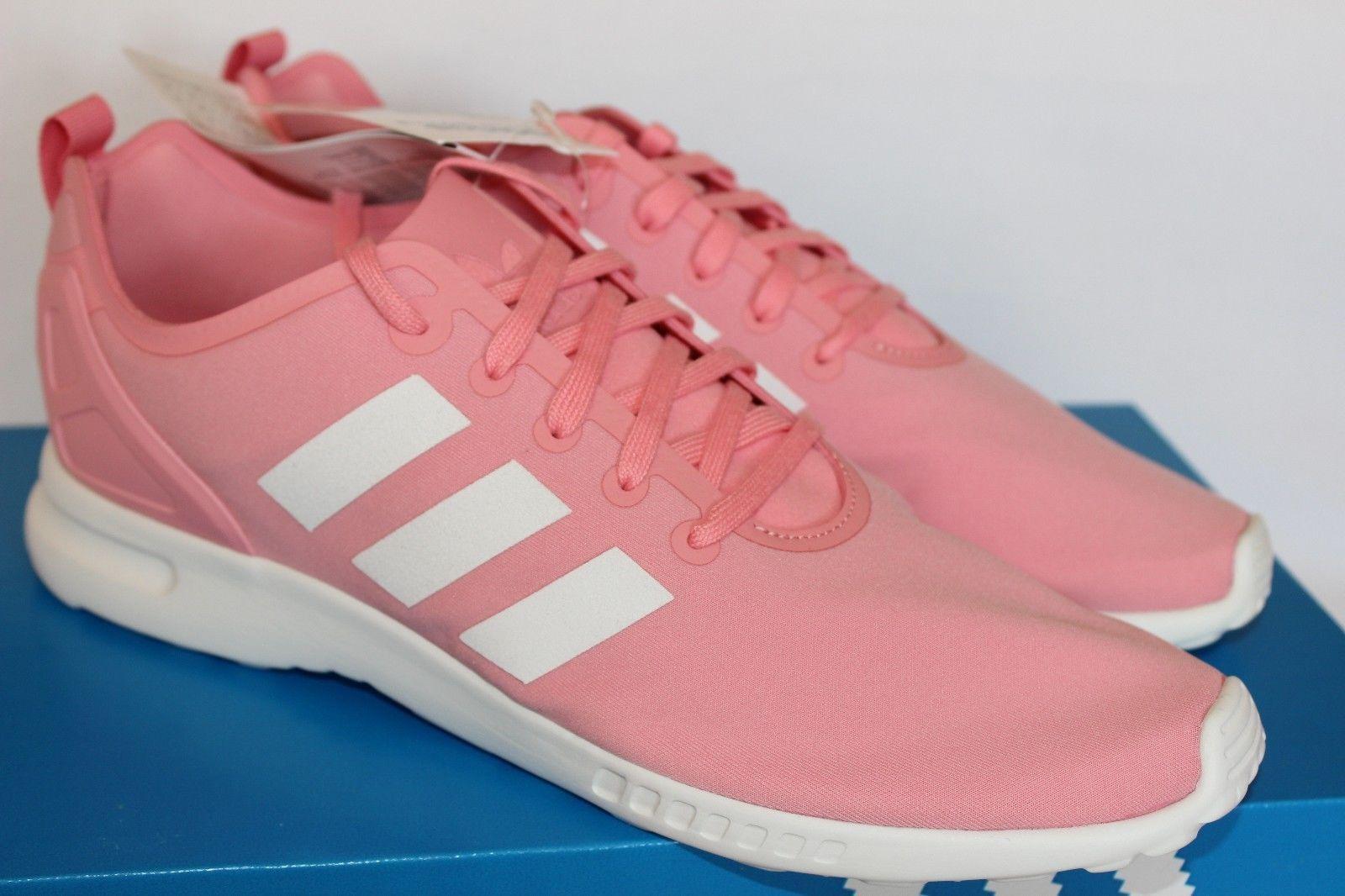 Adidas ZX Flux Smooth W 40 Sneaker Sportschuhe rosa weiß 40 W 2/3 Original & Neu Rar 6a9683