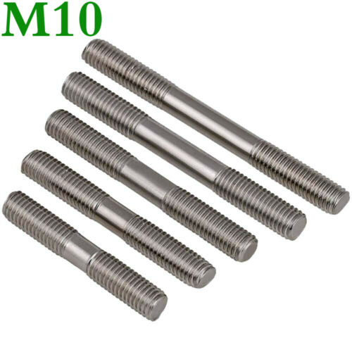 Details about  /M10 30-250mm Metric 304 Stainless Steel Double End Threaded Stud Bolts Screw Rod