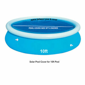 Solar Pool Cover For 10 ft Inflatable Paddling Swimming Pool Fast Set 10 FT UK