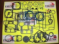 Harley Evo 1340 Big Bore Full Upper/top End+base Gasket Kit W/teflon Head 84-91