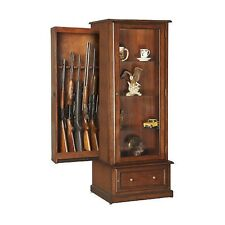 Curio and Gun Cabinet Combination by American Furniture Classics  |NO SALES TAX|