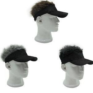 New Funny Men Adjustable Flair Hair Visor Casquette Hat Golf Fashion ... 9ae07f7f3d0
