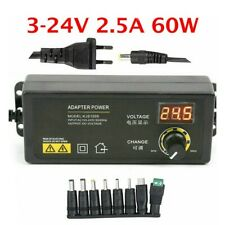 Adjustable Voltage 5a 3 To 24v Ac Dc Switch Power Supply Adapter Led Display