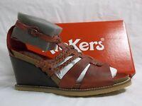 Kickers U-Find Sandals Dark Red Leather - Women's 36.0 M Shoes