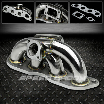 T3//T4 STAINLESS RACING TURBO MANIFOLD EXHAUST 07-08 HONDA FIT//JAZZ GD3 L15A1 2WD