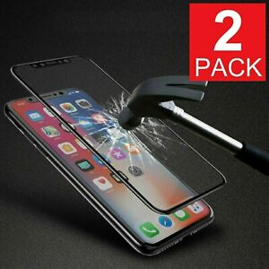 2-Pack-FULL-Coverage-Tempered-Glass-Screen-Protector-For-iPhone-X-XS-11-Pro-MAX