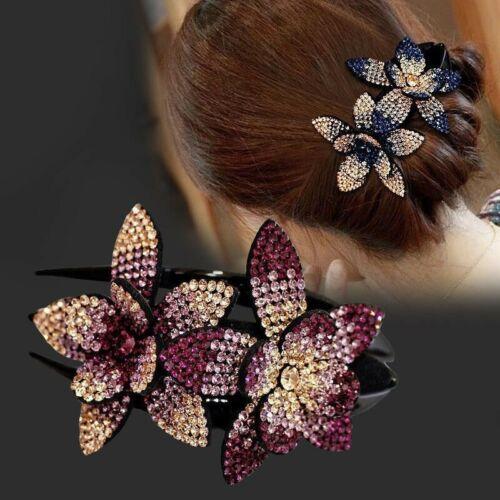 Crystal Flower Hair Hair Claw Fashion Hairclip Hairpin Rhinestone Jewelry Women