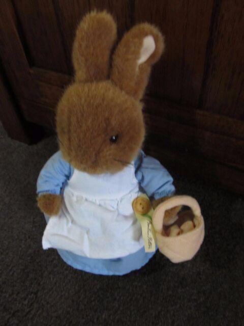 PETER RABBIT..gorgeous soft toy..of MRS RABBIT..Beatrix Potter..tagged original