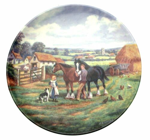 Home In The Fields The Village Shires Stan Mitchell Horse Plate Collector Plate