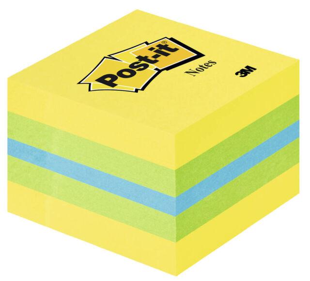 Post-it® Mini Haftnotizen farbsortiert, gelb, grün, blau