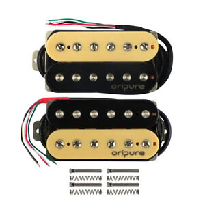 oripure alnico 5 hh electric guitar humbuckers pickups double coil zebra pickups 600685816387 ebay. Black Bedroom Furniture Sets. Home Design Ideas