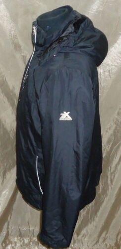 Veste polyester 100 amovible Zeroxposur femme à capuche noire OAqwnPzZ
