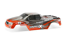 HPI RACING SAVAGE X 4.6 GT-2 7786 NITRO GT-2 PAINTED BODY (RED/GRAY/SILVER)
