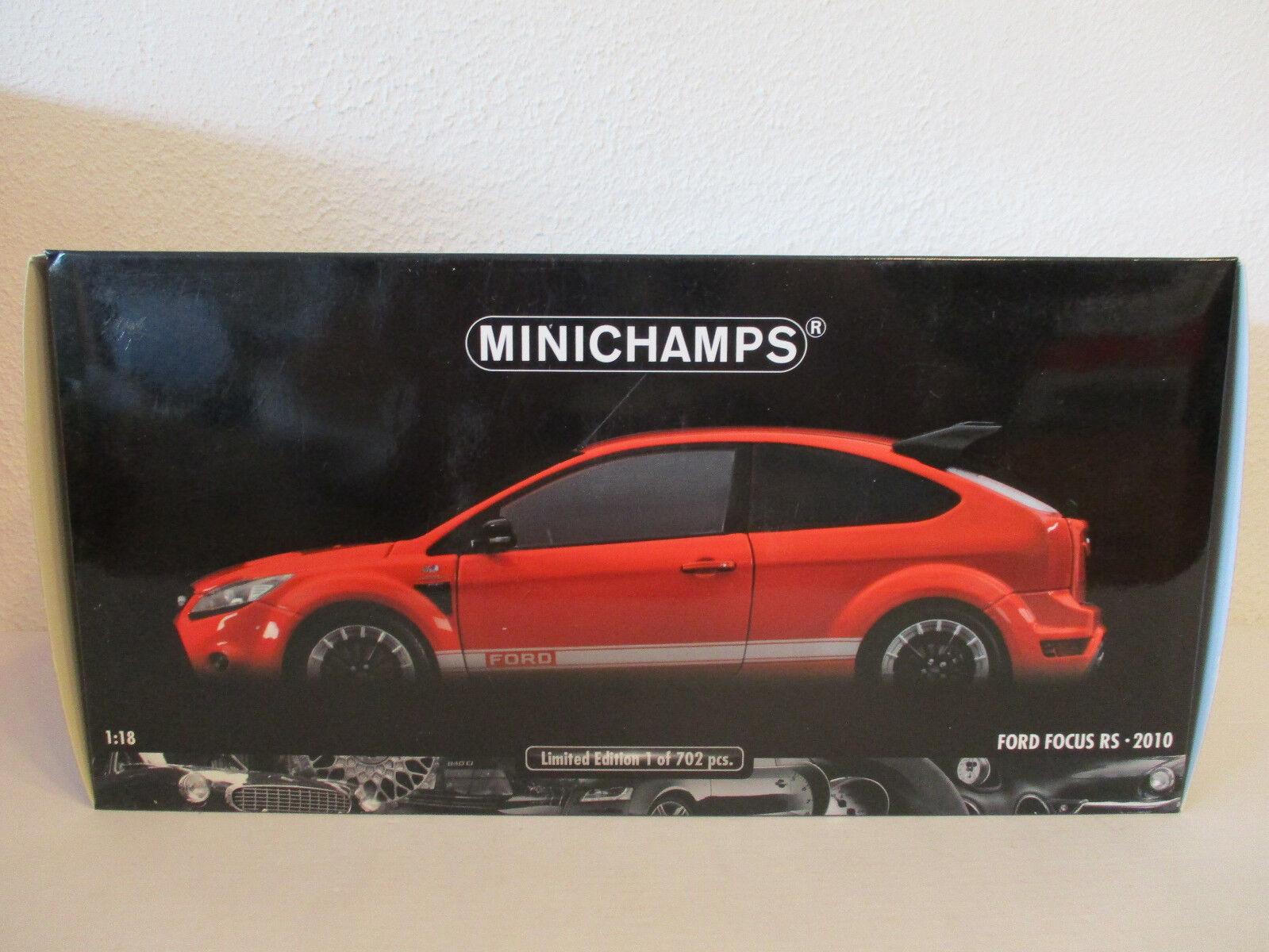 Minichamps Ford Focus Rs Rojo Nuevo Emb. Orig.