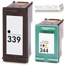 Pack 2 cartouche d'encre HP 339 XL + HP 344 XL  pour imprimante Photosmart 2610