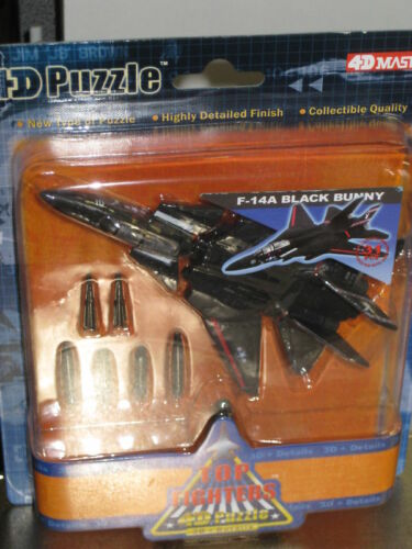 TOP JET FIGHTERS 4D PUZZLE F-14A BLACK BUNNY FIGURE