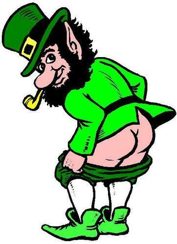 CHEEKY LUCKY IRISH LEPRECHAUN IRON ON T SHIRT TRANSFERLARGE A4 SIZE