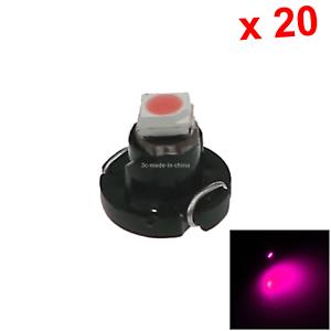 20x Pink Car T4.2 Light NEO Dash Twist Socket HVAC Cluster Blub 1 1210 SMD LED N