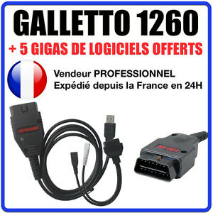 Tuning Câble GALLETTO 1260 EOBD2 Logiciels ECUSAFE IMMOKILLER ECM