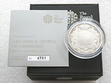 2013 Royal Christening Baby Prince George £5 Pound Silver Proof Coin Box Coa